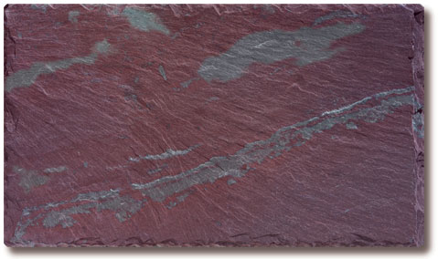 Unfading Mottled Green-Purple Slate Roof Tile