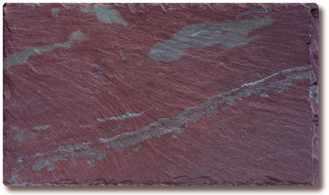 Unfading Mottled Green-Purple Slate Roof Tile