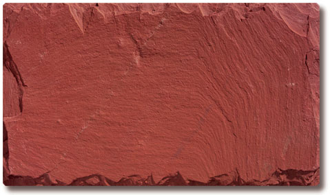 Unfading Red Slate Roof Tile