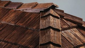 synthetic cedar roofing shake ridge